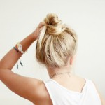 Sophisticated & Casual Blonde Topknot for Summer