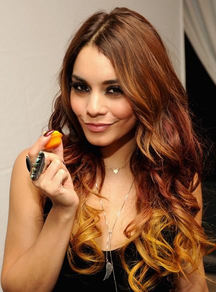 Vanessa Hudgens Orange Ombre Hair