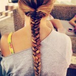 Back View of Ombre Fishtail Braid - Hairstyle for Girls tumblr