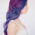 Blue and purple hair tumblr