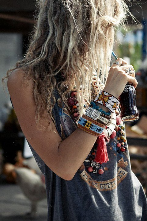 Boho Chic Grungy Bed Head Long Style Hairstyles Weekly