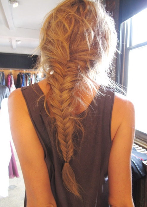 Cute braided hairstyle for girls fishtail braid for Fish tails braid