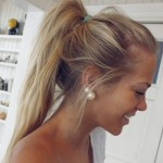 Girls Messy Ponytail for Sports tumblr