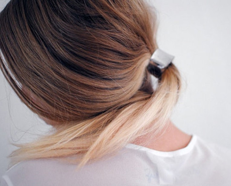 Sleek Ponytail With Metallic Hair Cuff Hair Accessories
