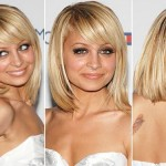 Nicole Richie Long Bob Hairstyle with Bangs