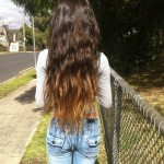 Ombre Hair Color Idea Wavy Dip-Dyed Long Hair