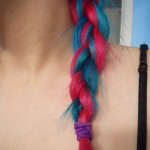 Pink & Blue Hair Colored Braid for Women