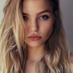 Rachel Hilbert Hairstyle Casual Side-swept Asymmetrical Long Waves tumblr