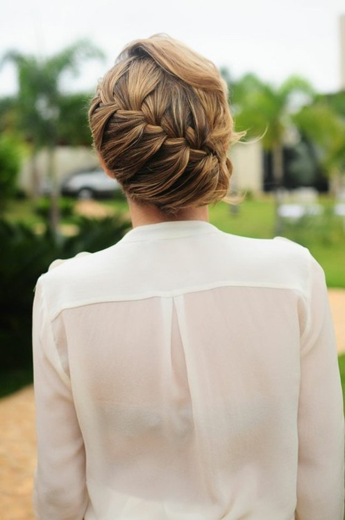 Romantic Waterfall Braid Updo