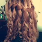 Side View of Waterfall Braid Tumblr