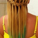 Blonde Green Waterfall Braid
