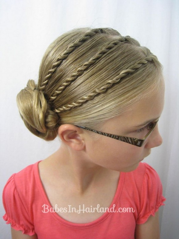 Cool braided updo for girls - Back to School Hair Ideas
