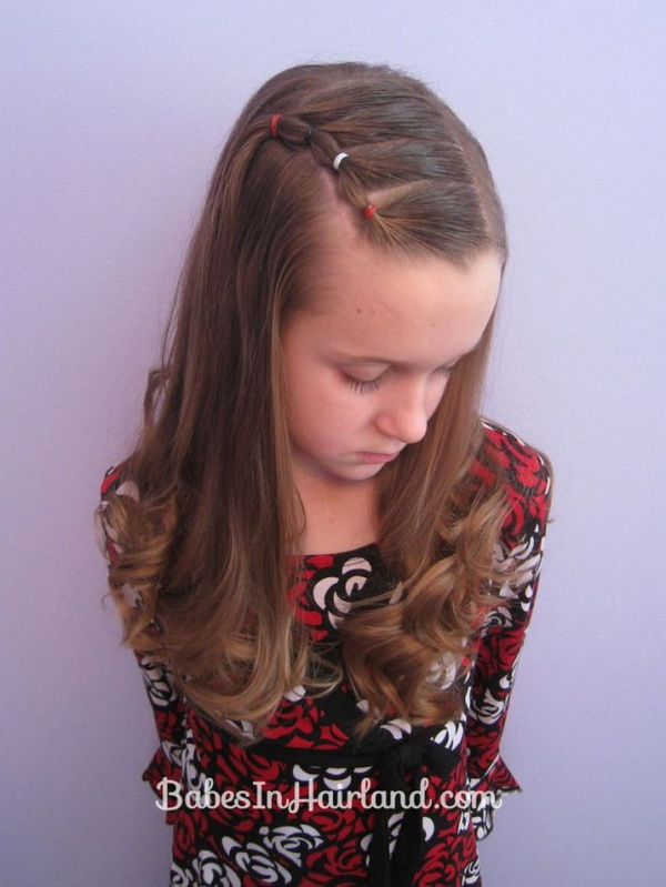 Girls Curly Hairstyle - Elegant Long Wavy Curly Hair