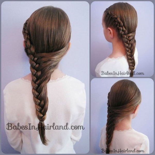Kids Hairstyle Ideas: Cute Half French Braid Hairstyle For Long Hair