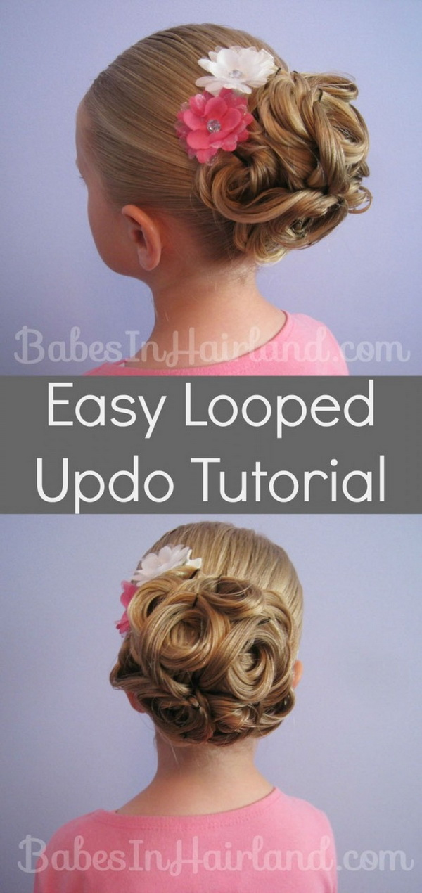 Kids Hair Tutorials - Easy Looped Updo