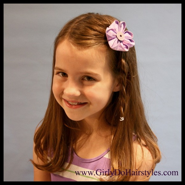 Cute Little Girl Hairstyles for Weddings