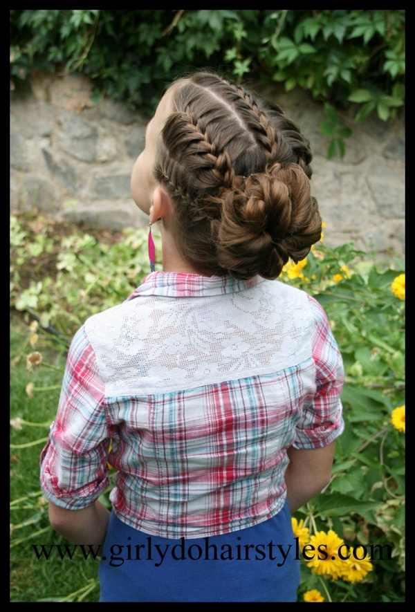 Kids Haircut Ideas: Easy Braided Updo