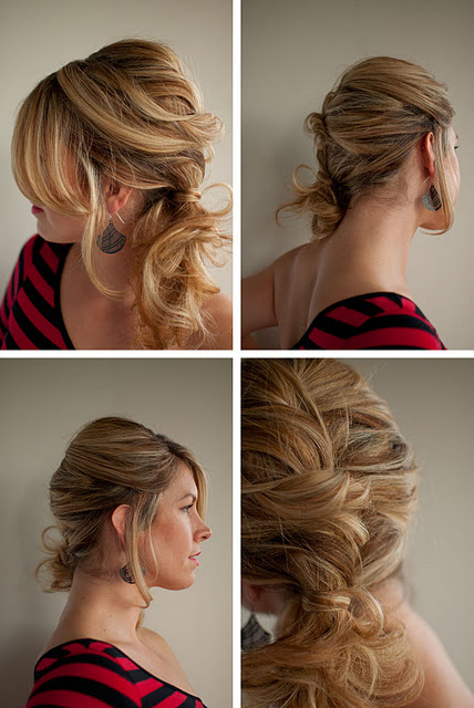 Astounding Curly Side Ponytail With Braid Braids Short Hairstyles Gunalazisus