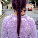 Back View of Deep Purple Fishtail Braid