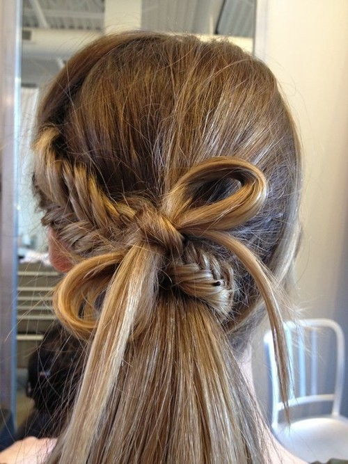 Quirky Hairstyles For Long Hair : ... School Hairstyles 2014: Quirky Fishtail & Hair Bow - Hairstyles Weekly