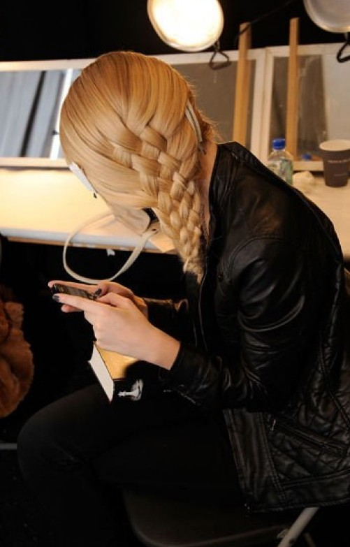 Basket-Weave Side Braid for Long Hair