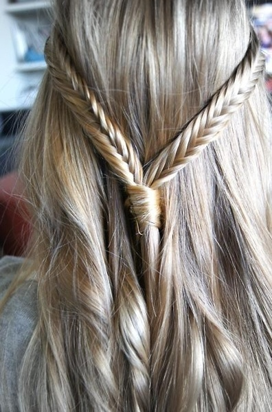 Braid Hair Ideas Silky Fishtail Band Amp Twisty Tresses