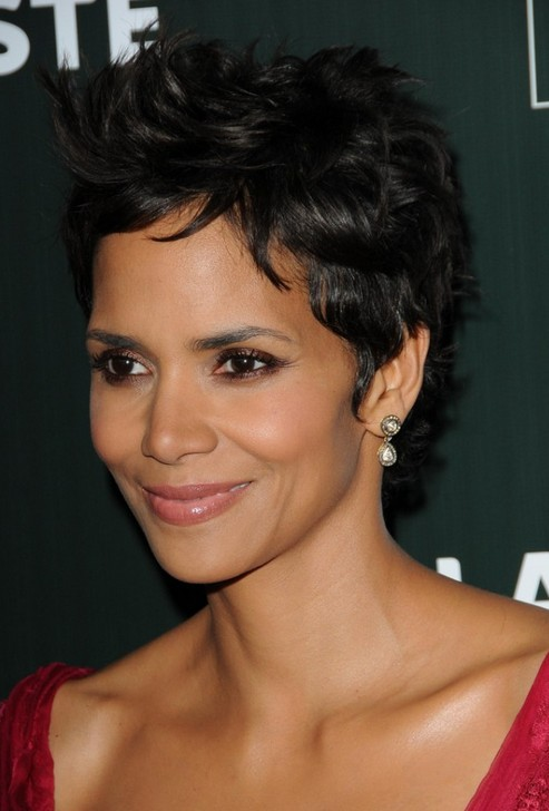 Sensational Celebrity Halle Berry Short Black Hairstyles 2014 Hairstyles Weekly Hairstyle Inspiration Daily Dogsangcom