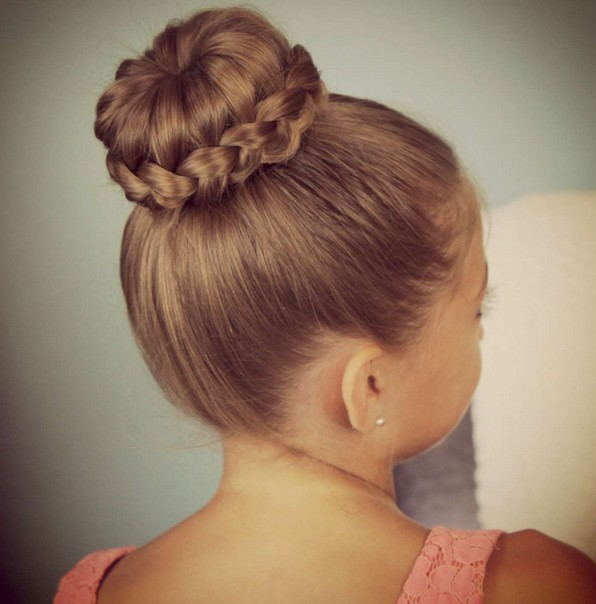 Cute Sophia Lucia Bun Updo for Girls