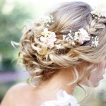 Side View of Dutch Flower Braid for Wedding