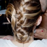 Back View of Elegant Braided Chignon for Women