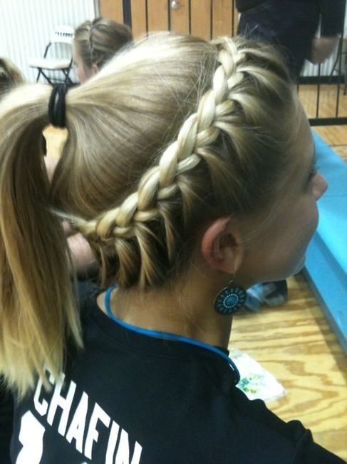 Super Softball Hair Braided Hairstyle Amp Ponytail For Sports Hairstyles For Women Draintrainus
