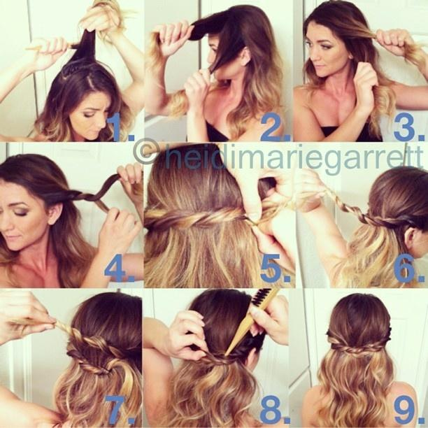 Hairstyle Tutorial for Long Hair : Beach Babe Look