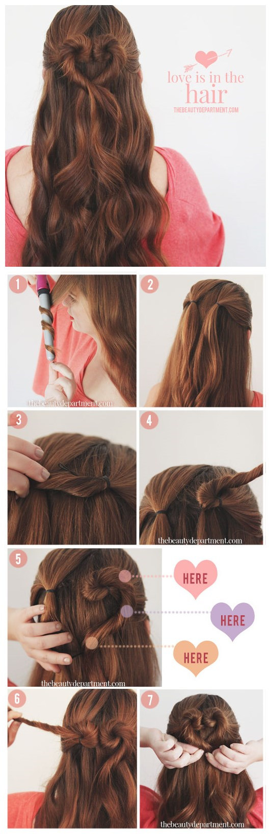 Updo tutorial: Heart Bun Updo