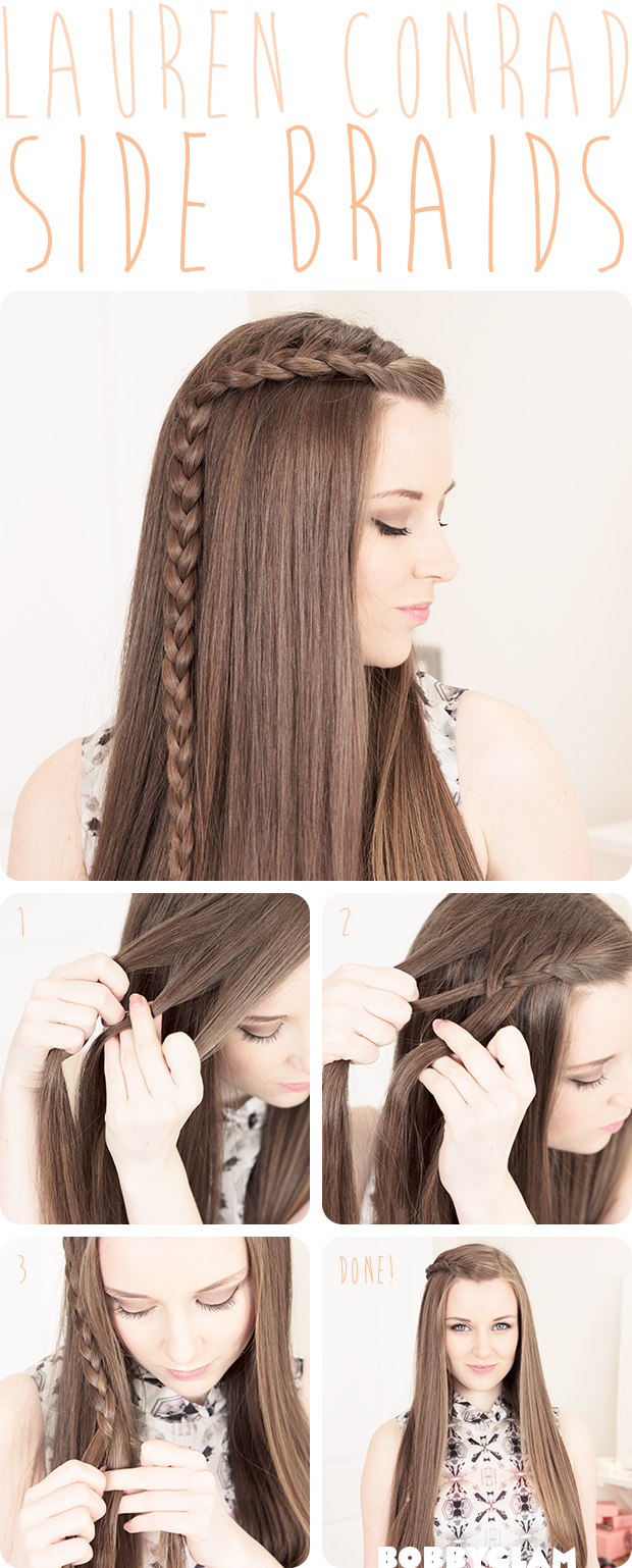 Lauren Conrad Hair Tutorials Side Braids