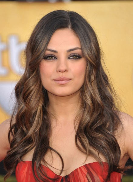 Mila Kunis ombre hair for long hair
