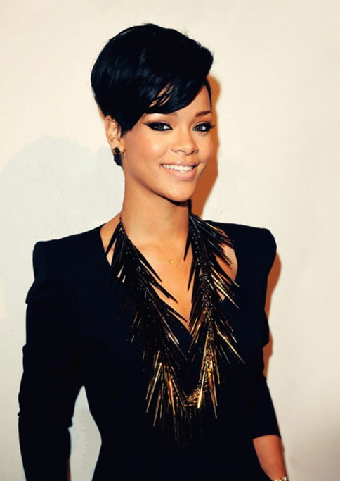 Popular Short Black Haircut for Women