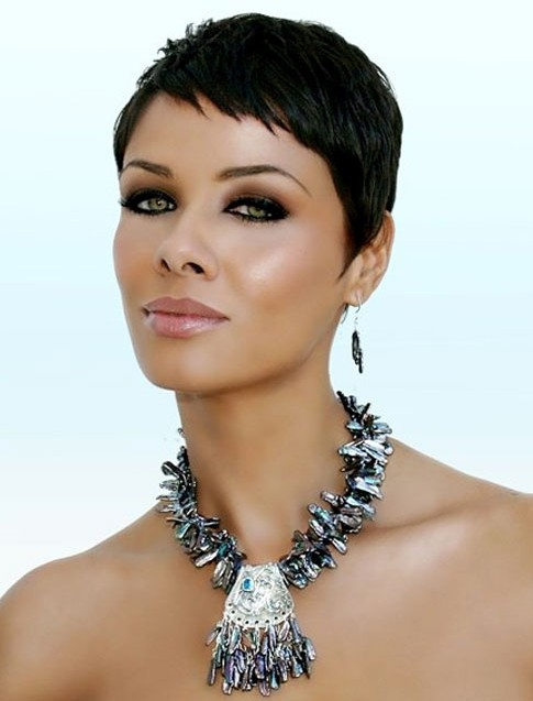 Very Short Black Pixie Cut For Black Women Hairstyles Weekly