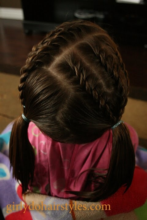 Short Hair Braids & Piggies for Girls