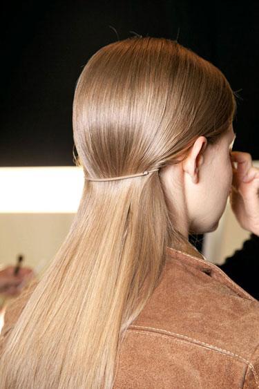Back View of Simple Sleek Hairstyle