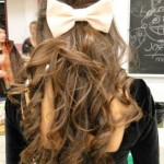 Sock Bun Curls Hairstyle for School