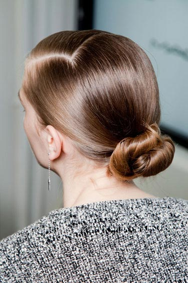 Spring/Summer 2014 Hair Trends Low Sleek Twisted Chignon