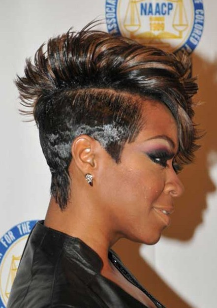 Trendy Short Black Haircut for African American Women
