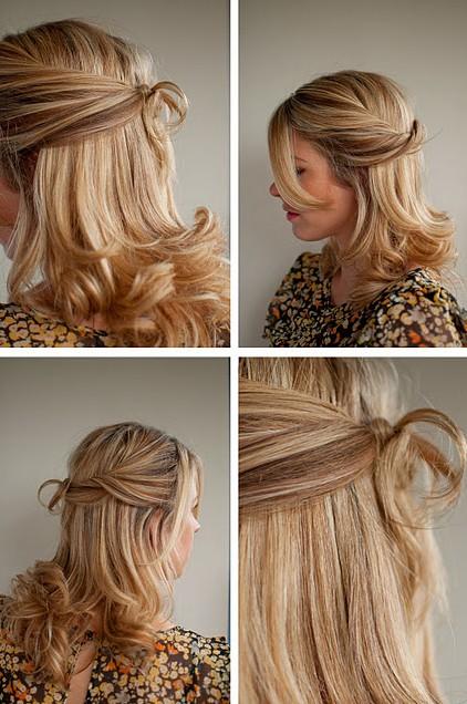 Pleasant Wedding Hair Idea Twisted Half Up Half Down Hairstyle Short Hairstyles Gunalazisus