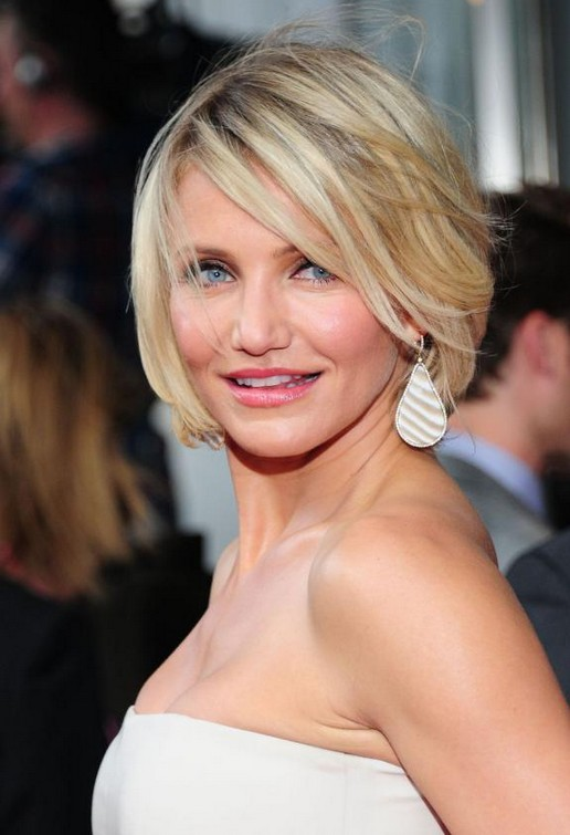 Chic Short Summer Hairstyles Cameron Diaz Bob
