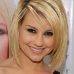 Chelsea Kane short blonde bob haircut