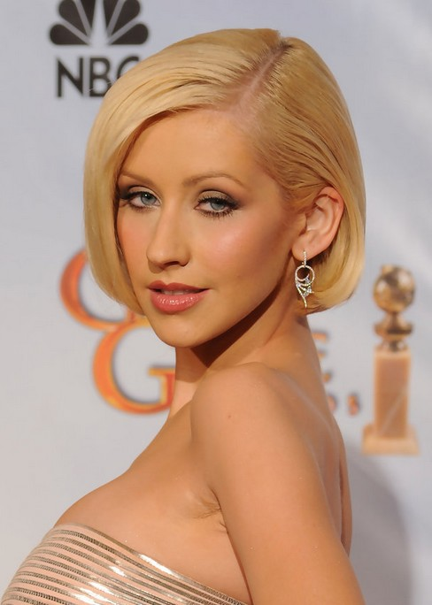 Christina Aguilera Short Haircut bob