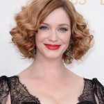 Christina Hendricks Curly Bob Hairstyle