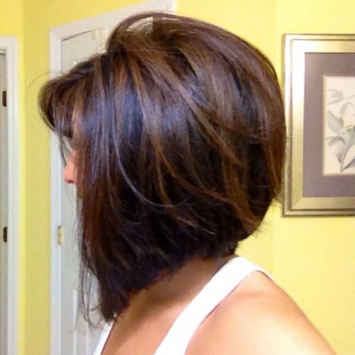 Concave Bob with subtle highlights
