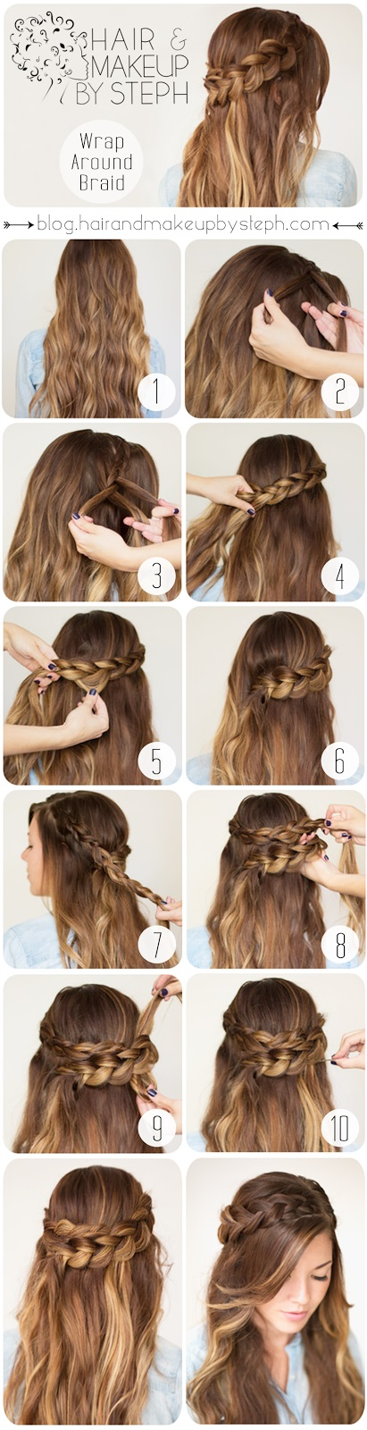 Braid Hair Tutorials: 12 Ways to Braid Your Hair | Hairstyles Weekly