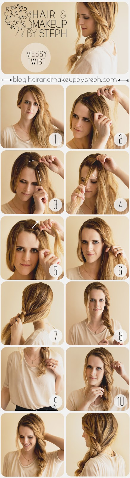 Hair Tutorial: How to do The Messy Twist at Home - Hairstyles Weekly